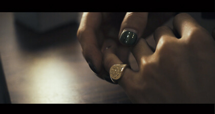 9ct Gold Signet Ring-Hand Engraved(KUBUS Original Monogram) thumbnail