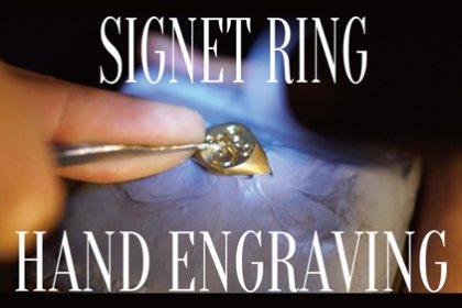 シグネットリンングへのモノグラムの手彫り(Hand-carved monogram on a signet ring)_thumbnail