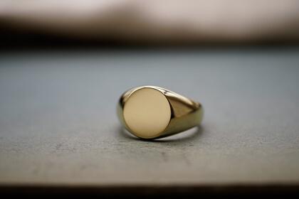 【Bespoke Order】鍛造 Signet ring(Brass) face type:Circle thumbnail