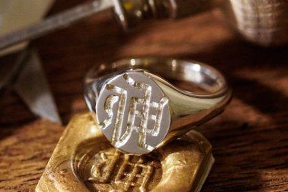 【Semi-custom made】Hand Engraved Oval Signet Ring(Sv925) KANJI-『伸』_thumbnail