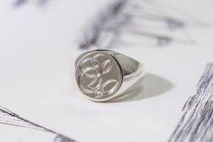Circle signet ring「S」完成1