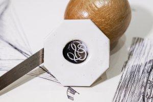 【Bespoke Order】Hand Engraved Circle Signet Ring(Sv925)「S」_4
