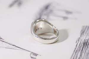 【Bespoke Order】Hand Engraved Curvaceous Square Signet Ring(Sv925)「SSSR」_10