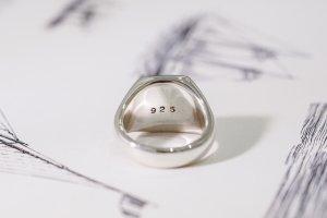 【Bespoke Order】Hand Engraved Curvaceous Square Signet Ring(Sv925)「SSSR」_12