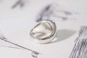 【Bespoke Order】Hand Engraved Curvaceous Square Signet Ring(Sv925)「SSSR」_13
