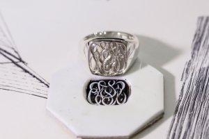Curvaceous square signet ring「SSSR」完成3