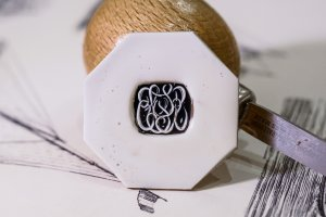 【Bespoke Order】Hand Engraved Curvaceous Square Signet Ring(Sv925)「SSSR」_3