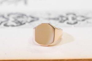 【Semi-custom made】Pair Octagon Signet Ring(9ct Yellow Gold&Sv925)_3