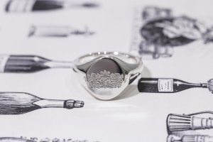 【Semi-custom made】The My Way×KUBUS Machine carved Oval Signet Ring(Sv925)_2