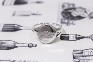 【Semi-custom made】The My Way×KUBUS Machine carved Oval Signet Ring(Sv925)_完成写真2