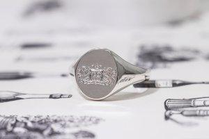 【Semi-custom made】The My Way×KUBUS Machine carved Oval Signet Ring(Sv925)