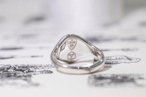 【Semi-custom made】The My Way×KUBUS Machine carved Oval Signet Ring(Sv925)_3