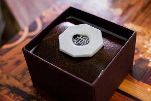 【Semi-custom made】Hand Engraved Oval Signet Ring(Sv925) 「KANJI-池」_5