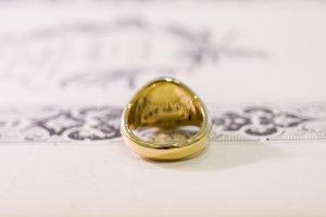 【Bespoke Order】Hand Engraved Circle Signet Ring(18ct Yellow Gold)「MD」_11
