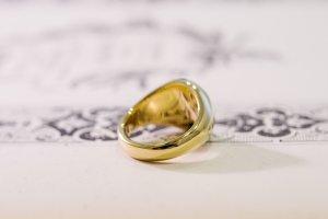 【Bespoke Order】Hand Engraved Circle Signet Ring(18ct Yellow Gold)「MD」_13