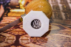 【Bespoke Order】Hand Engraved Circle Signet Ring(18ct Yellow Gold)「MD」_4