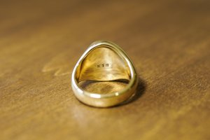 【Bespoke Order】Hand Engraved Big Oval Signet Ring(18ct Yellow Gold)「HL」_7