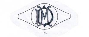 「MD」モノグラムデザイン