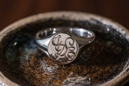 【Semi-custom made】The My Way×KUBUS Hand Engraved Oval Signet Ring(Sv925) HIDE_thumbnail