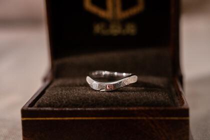 Making silver ring『yugami+dakon ring(Sv9999)』KUBUSの指輪作り