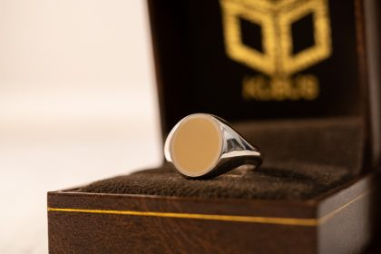 Brass×Silver Combination Signet-ring